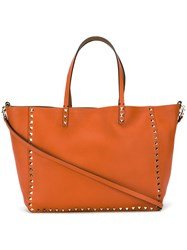 Valentino Garavani Reversible Shopper Yellow Orange