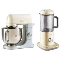 Kenwood Kmix Iconic Table Mixer With Free Table Blender Almond Kmx52