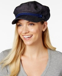 Nine West Canvas Newsboy Hat Blue