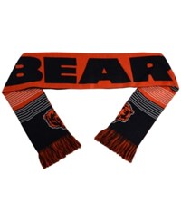 Forever Collectibles Chicago Bears Reversible Split Logo Scarf Navy