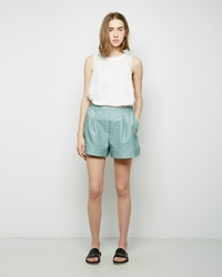 3.1 Phillip Lim Curved Hem Shorts Seafoam