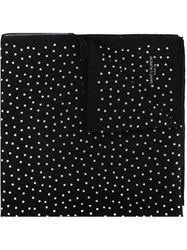 Saint Laurent Polka Dot Scarf Black