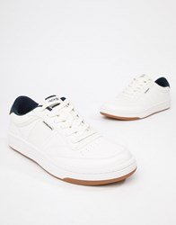 Jack And Jones Lace Up Trainers White