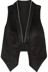 Brunello Cucinelli Embellished Alpaca And Wool Blend Vest Gray