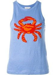 Tory Burch 'Crab' Tank Top Blue
