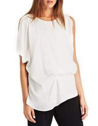 Kenneth Cole Brandon Blouse Chalk