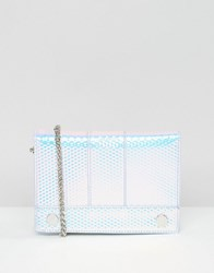 Skinnydip Holographic Cross Body With Stud Detail Hologram Bubble Multi