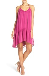 Chelsea 28 Women's Chelsea28 Halter Swing Dress Purple Magenta
