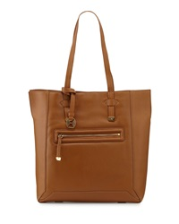 Halston Heritage Pebbled Leather North South Tote Bag Tan