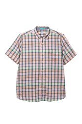 Tommy Bahama Pico Plaid Short Sleeve Shirt Big And Tall Electric C
