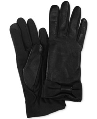 Charter Club Tech Bow Gloves Black