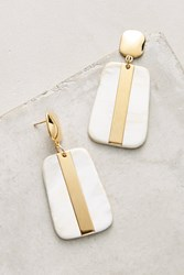 Anthropologie Horn Drop Earrings White