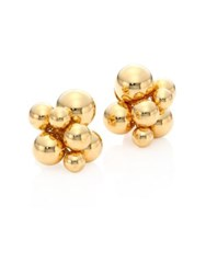 Marina B Atomo 18K Yellow Gold Sphere Earrings