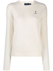 Polo Ralph Lauren Embroidered Jumper White