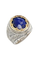 Men's Konstantino 'Orpheus' Petal Set Semiprecious Stone Ring