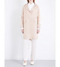 Jil Sander Hooded Shell Parka Coat Light Pastel Pink