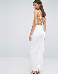 Aq Aq Aqaq Maier Caged Back Maxi Dress Cream