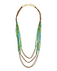 Green And Turquoise Howlite Multi Strand Necklace Stephanie Kantis