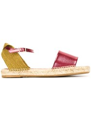 Charlotte Olympia Espadrille Sandals Red