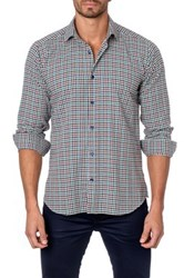 Jared Lang Long Sleeve Checkered Semi Fitted Shirt