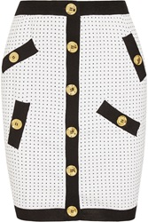 Boutique Moschino Polka Dot Knitted Mini Skirt