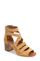 Jessica Simpson Women's Halacie Ankle Strap Sandal Honey Brown Suede