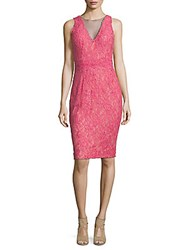 Rene Ruiz Lace Cocktail Dress Pink