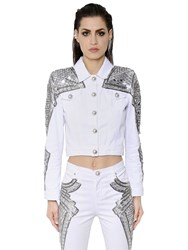 Zuhair Murad Mirror And Bead Embellished Denim Jacket