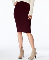 Bar Iii Ribbed Midi Pencil Skirt Only At Macy's Perfect Plum