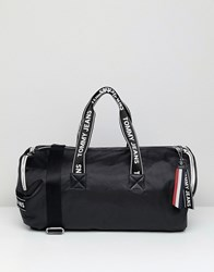 Tommy Jeans Barrell Bag With Logo Tape Straps Black