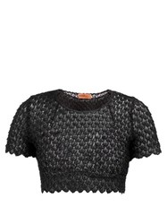 Missoni Mare Lace Knitted Crop Top Black