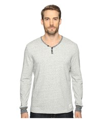 Lucky Brand Y Neck Terry Tee Grey Heather Men's Clothing Gray
