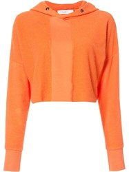 Daniel Patrick Cropped Hoodie Yellow Orange