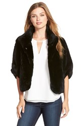 Diane Von Furstenberg 'Liza' Genuine Rabbit Fur Bolero Black
