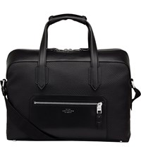 Smythson Greenwich Cotton And Leather Carry On Bag Black