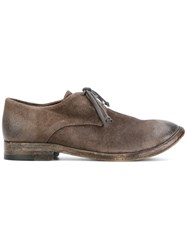 The Last Conspiracy Distressed Lace Up Shoes Horse Leather Leather Brown