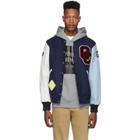 Opening Ceremony Navy Varsity Jacket