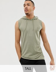 French Connection Tall Sleeveless Hoodie Green