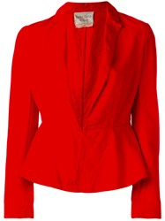 Forte Forte Fitted Blazer Jacket Red