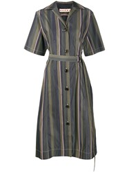 Marni Stripe Pattern Belted Dress 60