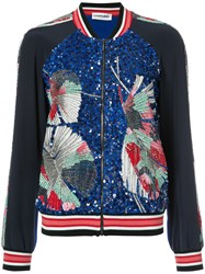 Leonard Embellished Bomber Jacket Women Silk S Black