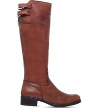 Carvela Weather Knee High Leather Boots Tan