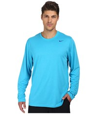 Nike Legend Dri Fit Poly L S Crew Top Blue Lagoon Men's Workout