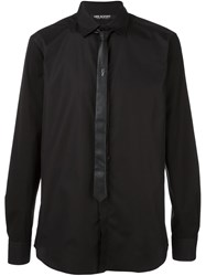 Neil Barrett Tie Detail Shirt Black