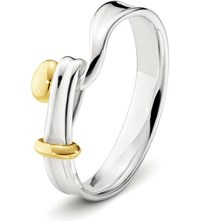 Georg Jensen Torun 18Ct Yellow Gold And Sterling Silver Ring
