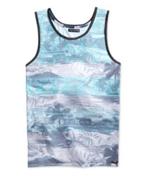 Ocean Current Men's Federico Tropical Print Slub Tank Fresh Mint