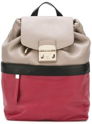 Furla Colour Block Backpack Nude Neutrals