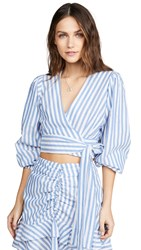 Red Carter Piper Top Blue White