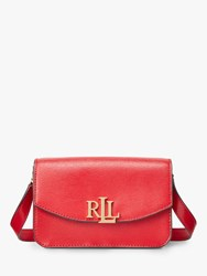 Ralph Lauren Elmswood Madison 18 Leather Cross Body Bag Red