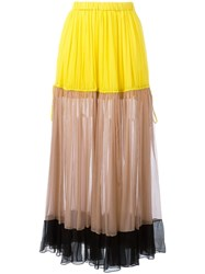 N 21 No21 Striped Midi Skirt Yellow Orange